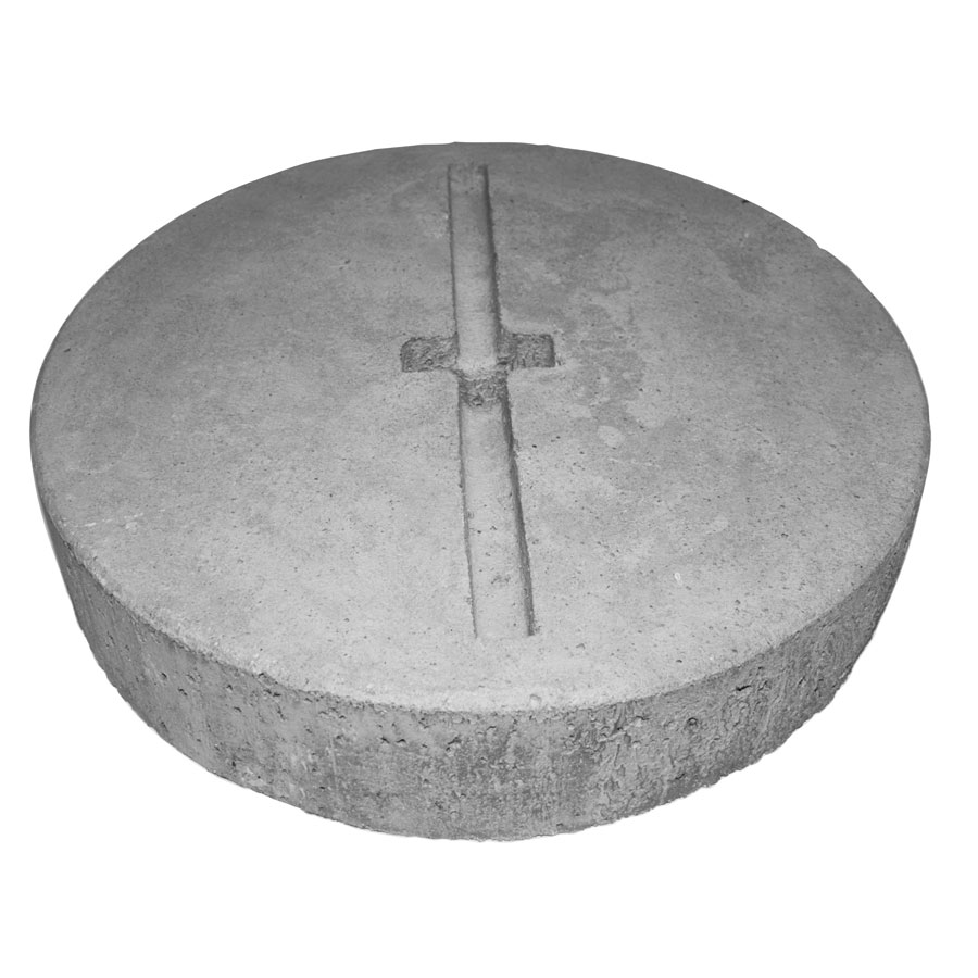 Concrete plate for anchorage
